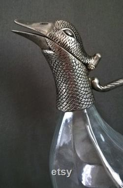 Wine carafe, decorative carafe, glass carafe, Art Deco style.