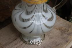antique Lauschaer thread glass glass jug 2 l jug 1880 1900