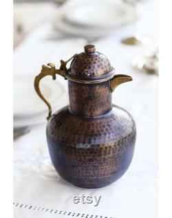 carafe,water bottle,water carafe,vintage carafe,copper carafe,,step mom gift,mother's day gift