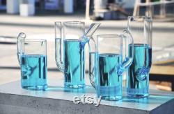 glass carafes, water carafes, drink jugs, gift set, minimal design, glass vases, wine decanters, flower vases, pyrex carafes, cactus