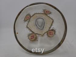 old enamelled glass carafe